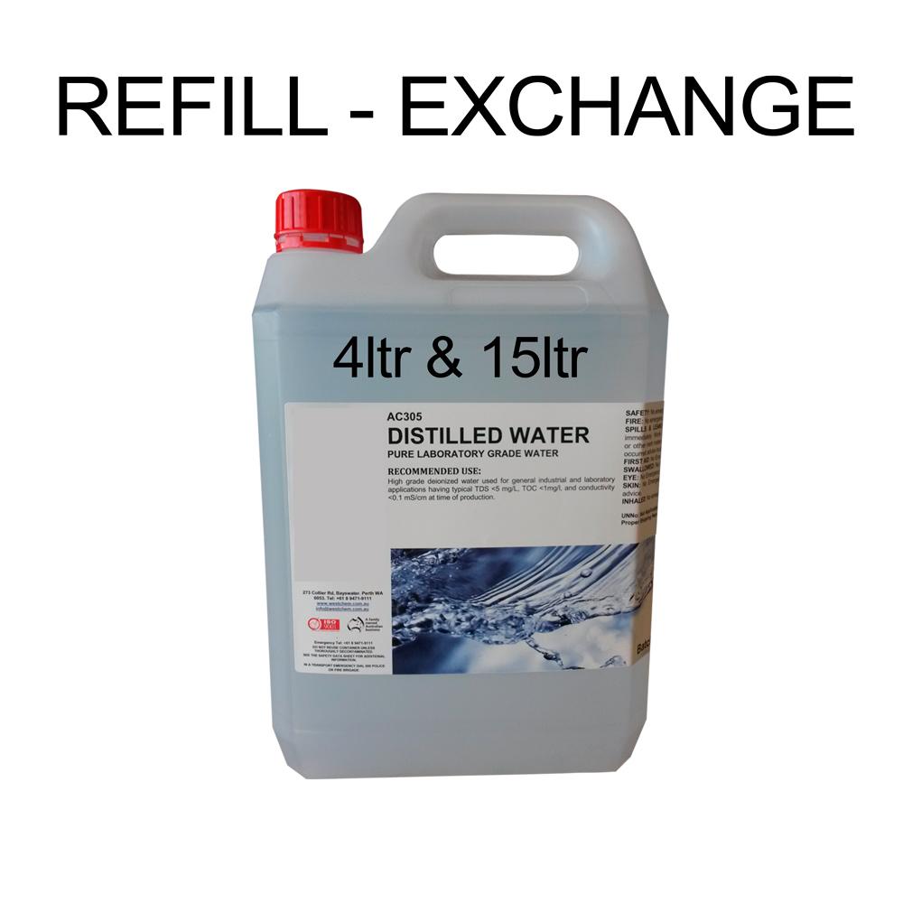 Distilled Water 4ltr 15ltr